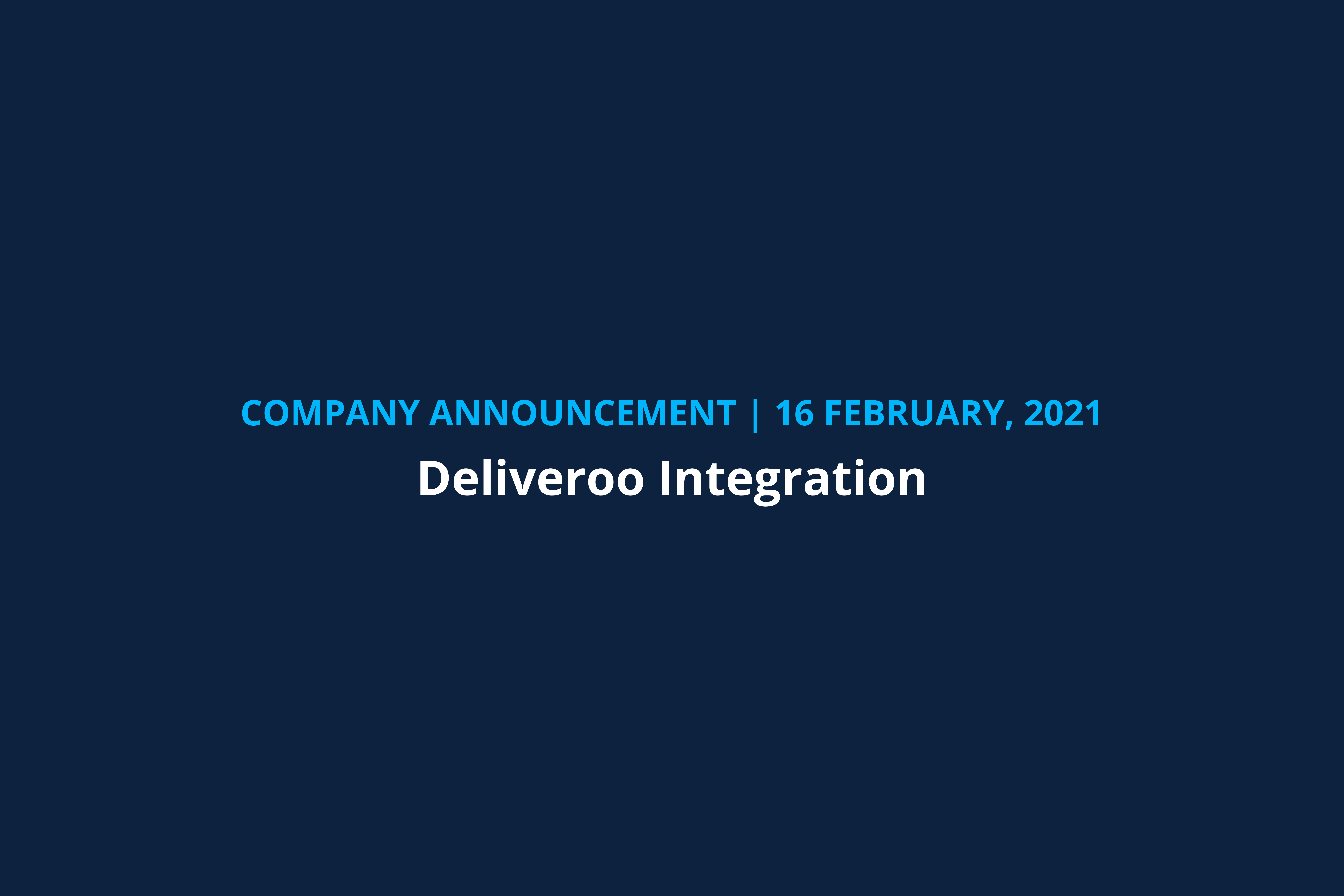 company announcement deliveroo