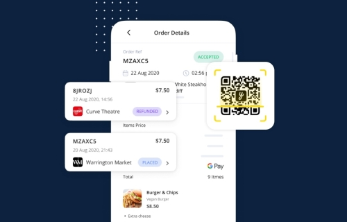 Scan order pay UK USD